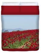Ranunculus Red Duvet Cover