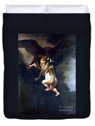Rape Of Ganymede Duvet Cover