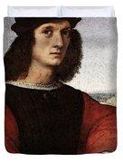 Raphael Portrait Of Agnolo Doni Duvet Cover