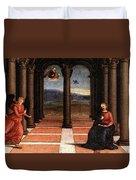 Raphael The Annunciation  Oddi Altar Predella  Duvet Cover