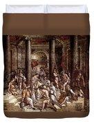 Raphael The Baptism Of Constantine Duvet Cover