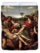Raphael The Entombment Duvet Cover