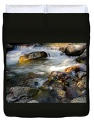 Rapids And Boulders Duvet Cover