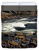 Rapids And Rocks Duvet Cover