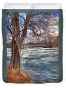 Rapids In Fall Duvet Cover