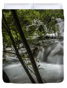 Rapids In Forest  Duvet Cover