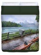 Rapids In The Rain Duvet Cover