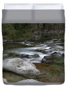 Rapids On The Washougal River Duvet Cover