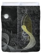 Rapunzel By Night Duvet Cover