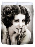 Raquel Torres, Vintage Actress Duvet Cover