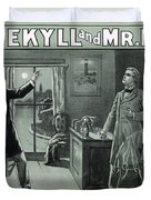 Rare Dr. Jekyll And Mr. Hyde Transformation Poster Duvet Cover