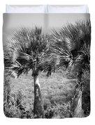 Rare Palm Trees Curacao Duvet Cover