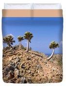 Rare Palm Tress Curacao Duvet Cover