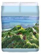 Rarotonga, Te Kou Mountain View Duvet Cover by Judith Kunzle