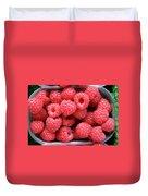 Rasberries Market Bergen Duvet Cover