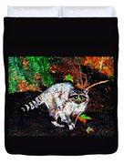 Rascally Raccoon Duvet Cover by Will Borden