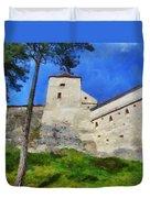 Rasnov Fortress Duvet Cover