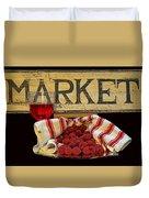 Raspberries At The Market Duvet Cover