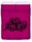 Raspberries Image Duvet Cover