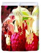 Raspberry Bush Duvet Cover