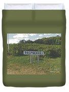 Raspberry Fields Three Duvet Cover