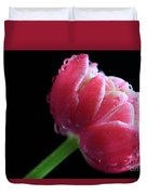 Raspberry Tulip Duvet Cover by Tracy Hall