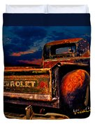 Rat Rod Chevy Truck Duvet Cover