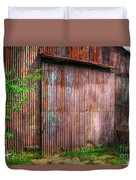 Rats Castle Farm Barn Door Duvet Cover