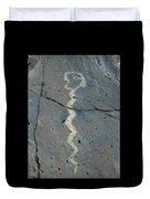 Rattlesnake Petroglyph 2 Duvet Cover