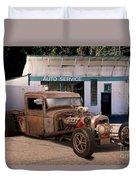 Raunchy Rat Rod Pickup Duvet Cover