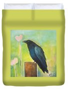 Raven In The Garden Duvet Cover