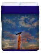Raven Pole Duvet Cover