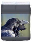 A Raven - Windblown Duvet Cover
