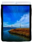 Ravenal Bridge Charleston South Carolina Duvet Cover
