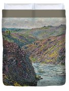Ravines Of The Creuse At The End Of The Day Duvet Cover