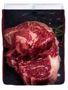 Raw Beef Steak Duvet Cover