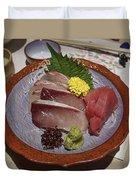 Raw Fish Sashimi Plate - Kyoto Japan Duvet Cover
