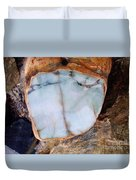 Raw Jadite Rock Duvet Cover