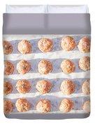 Raw Meat Balls Duvet Cover