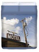 Rawhide Motel Duvet Cover