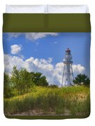 Rawley Point Lighthouse Duvet Cover