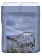 Ray Of Light On Mountain Duvet Cover