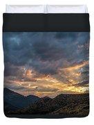 Rays Above Tecate Peak Duvet Cover