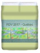 Rdv 2017 Quebec Mug Shot Duvet Cover