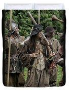 Re-enactment Soldiers Duvet Cover