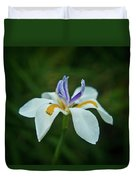 Reaching Iris Duvet Cover