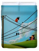 Reaching New Heights Duvet Cover by Cindy Thornton