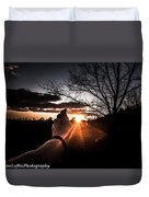 Reaching Out To Dad In Heaven  Duvet Cover by Kim Loftis