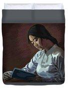 Reader Duvet Cover