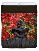 Reading Boy - Santa Fe Duvet Cover